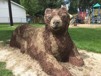 Bear Free Form Concrete Bench, Yvette Cuthbert