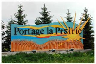 Yvette Cuthbert's Portage la Prairie Entrance Sign