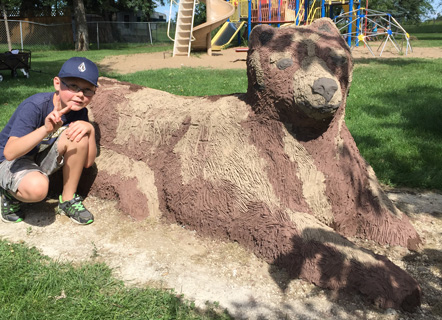 Bear Bench at McKay Park, Portage la Prairie