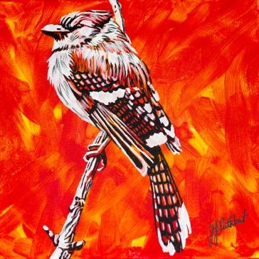 Blue Jay, Celebraate Canada, Yvette Cuthbert, Artist
