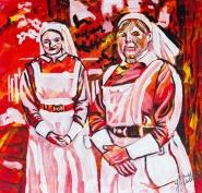 Blue Nuns, WW1, Celebrate Canada, Yvette Cuthbert, Artist