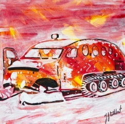 bombadier for commercial ice fishing, Celebrate Canada, Yvette Cuthbert