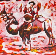 Camels used during Gold Rush, Celebrate Canada, Yvette Cuthbert, Artist