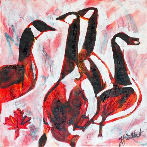 Canadian Geese, Celebrate Canada, Yvette Cuthbert, Artist