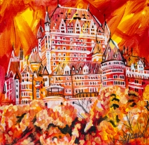 Chateau Frontenac, Celebraate Canada, Yvette Cuthbert, Artist