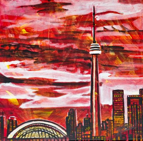 CN tower Toronto, Celebrate Canada, Yvette Cuthbert, Artist