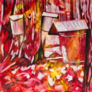Collecting Maple Syrup, Celebrate Canada, Yvette Cuthbert, Artist