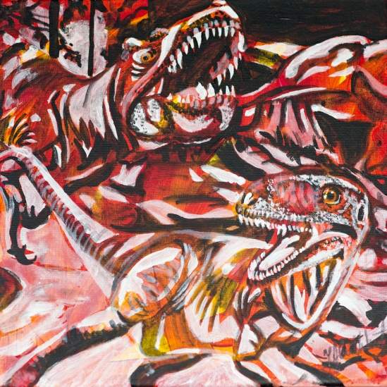 Dinosaurs at Drumheller AB, Celebrate Canada, Yvette Cuthbert, Artist