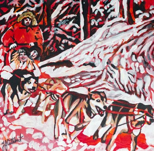 Dog Sledding, Celebrate Canada, Yvette Cuthbert, Artist