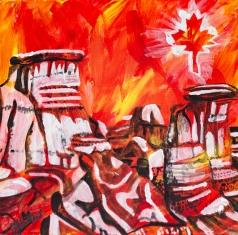 Drumheller Voodoos, Celebrate Canada, Yvette Cuthbert, Artist