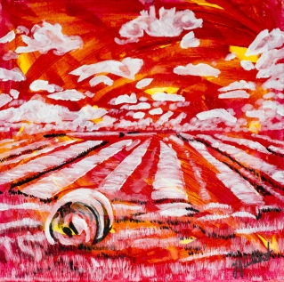 Fields in the Prairie, celebrate canada, Yvette Cuthbert, Artist