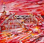 Firt Viking homes in Canada, Celebrate Canada, Yvette Cuthbert, Artist