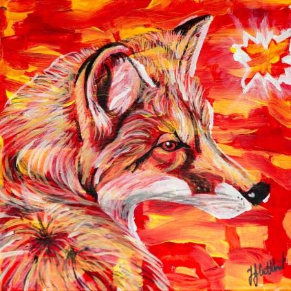 fox, Celebrate Canada, Yvette Cuthbert, Artist