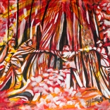 Giant cedars, in Cathedral Grove, BC, Celebrate Canada, Yvette Cuthbert, Artist
