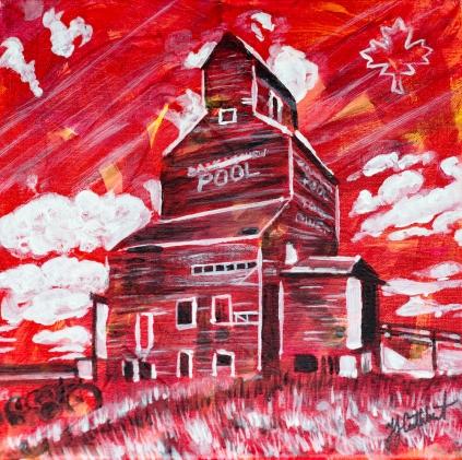 Grain Elevators, Celebrate canada, Yvette Cuthbert, Artist