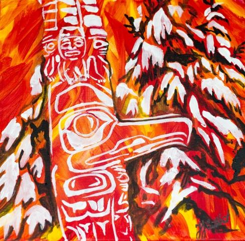 Haida Totem Poles, Celebrate Canada, Yvette Cuthbert, Artist