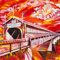 Hartland Covered Bridge, Celebrate Canada, Yvette Cuthbert, Artist
