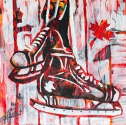 hockey skates, Celebrate canada, Yvette Cuthbert