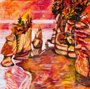 Hopewell Rocks, in the Bay of Fundy, Celebrate canada, Yvette Cuthbert, Artist