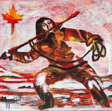 Inuit Hunter, Celebrate Canda, Yvette Cuthbert, Artist