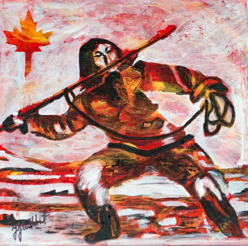 Inuit Hunter, Celebrate Canda, Yvette Cuthbert, Artist
