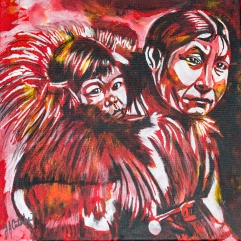 Inuit mother and child, Celebrate Canada, Yvette Cuthbert