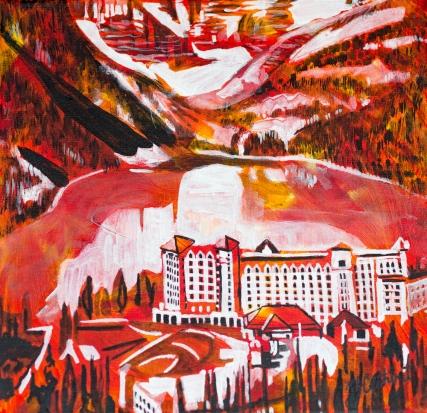Lake Louise, celebrate canada, Yvette Cuthbert, Artist