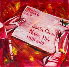 Letter to Santa, Celebrate canada, Yvette Cuthbert, Artist