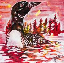 Loon,, Celebrate Canada, Yvette Cuthbert, Artist