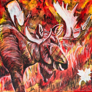 Moose, Celebrate Canada, Yvette Cuthbert, Artist