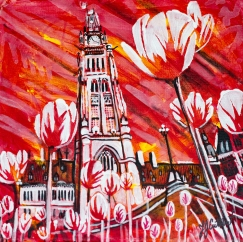 Parliment Buildings and canada 150 tulips, celebrate Canada, Yvette Cuthbert,, Artist