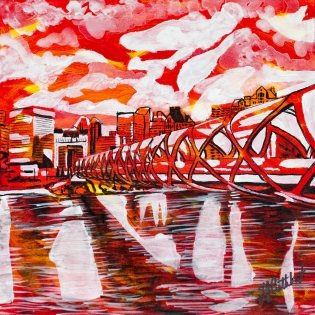 Peace Bridge Calgary, Celebrate Canada, Yvette Cuthbert, Artist