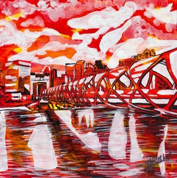 Peace Bridge Calgary, Celebrate Canada, Yvette Cuthbert, Artist