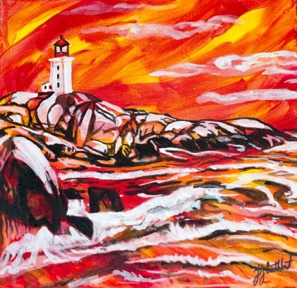 Peggy's Cove, Celebrate Canada, Yvette Cuthbert, Artist