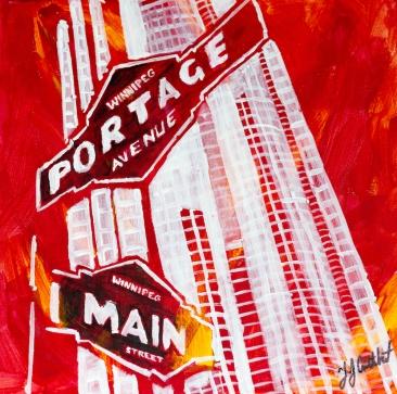 Portage and Main, Winnipeg, Celebrate canada, Yvette Cuthbert, Artist