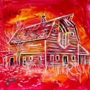 Red Barns, Celebrate canada, Yvette Cuthbert, Artist
