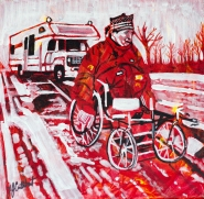 Rick Hansen, Wheels in Motion, Celebrate Canada, Yvette Cuthbert, Artist