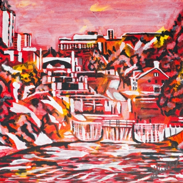 Rideau Canal Locks, Celebrate Canada, Yvette Cuthbert, Artist