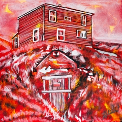 Saltbox house and root cellar, Celebrate Canada, Yvette Cuthbert