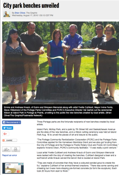 City park benches unveiled