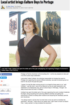 Local artist brings Culture Days to Portage
