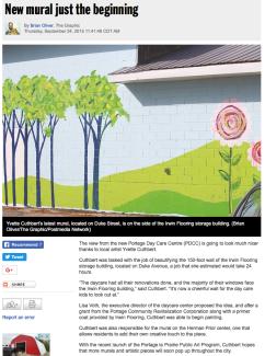 New mural just beginning