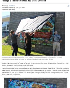Portage la Prairie's Canada 150 mural unveiled