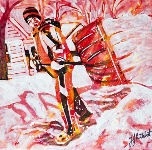 Shovelling Snow, Celebrate Canada, Yvette Cuthbert, Artist