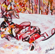 Snowmobiling, Celebrate Canada, Yvette Cuthbert, Artist