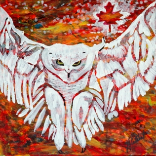 Snowy Owl, Celebrate Canada, Yvette Cuthbert