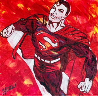 Superman,, Celebrate Canada, Yvette Cuthbert, Artist