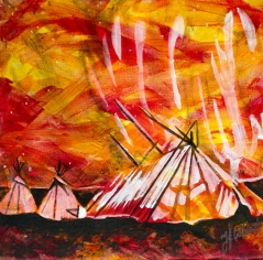 Teepees, Celebrate Canada, Yvette Cuthbert, Artist