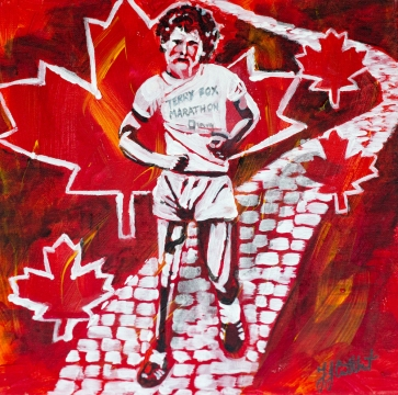 Terry Fox,, Celebrate Canada, Yvette Cuthbert, Artist