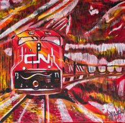 Trains connecting Canada coast to coast, Celebrate Canada, Yvette Cuthbert, Artist